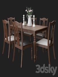 Upsala table and chairs