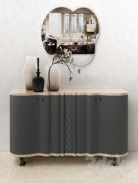 Carpanelli Mistral Sycomoro sideboard & Iride mirror set