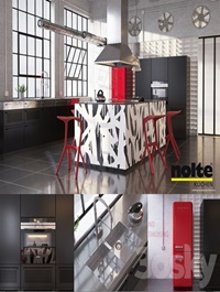 Kitchen Nolte Neo equipment and industrial attributes