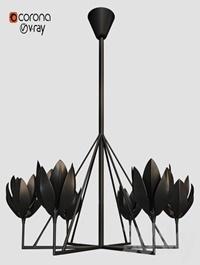 FLORA CHANDELIER BLACK