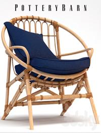 Armchair Pottery Barn Luling Rattan Chair