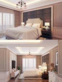 Modern Bedroom Interior Scene 45