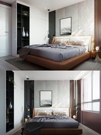 Bedroom Interior Scene by By NgoDung