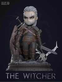 Geralt chibi from The Witcher